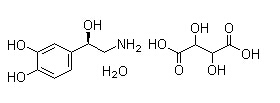 Noradrenaline bitartrate Chemical Structure