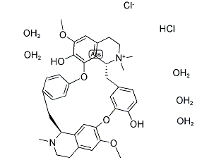 (+)-Tubocurarine Chloride Pentahydrate Chemical Structure