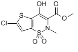 6-Chloro-4-hydroxy-2-methyl-2H-thieno[2,3-e]-1,2-thiazine-3-carboxylic acid methyl ester 1,1-dioxide Chemical Structure