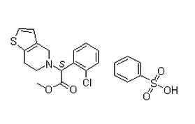 Clopidogrel Besylate Chemical Structure