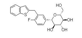 Ipragliflozin 结构式
