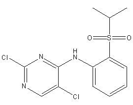 4-Pyrimidinamine, 2,5-dichloro-N-[2-[(1-methylethyl)sulfonyl]phenyl]- Chemical Structure