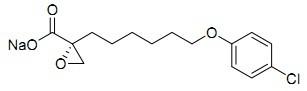 (+)-Etomoxir sodium salt Chemical Structure