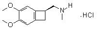 (1S)-4,5-Dimethoxy-1-[(methylamino)methyl]benzocyclobutane hydrochloride Chemical Structure
