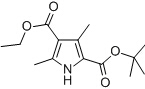 2-tert-Butyl 4-ethyl 3,5-dimethyl-1H-pyrrole-2,4-dicarboxylate Chemical Structure