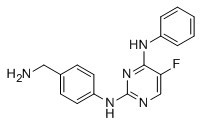 N2-[4-(Aminomethyl)phenyl]-5-fluoro-N4-phenylpyrimidine-2,4-diamine Chemical Structure