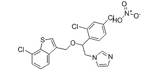 Sertaconazole nitrate Chemical Structure